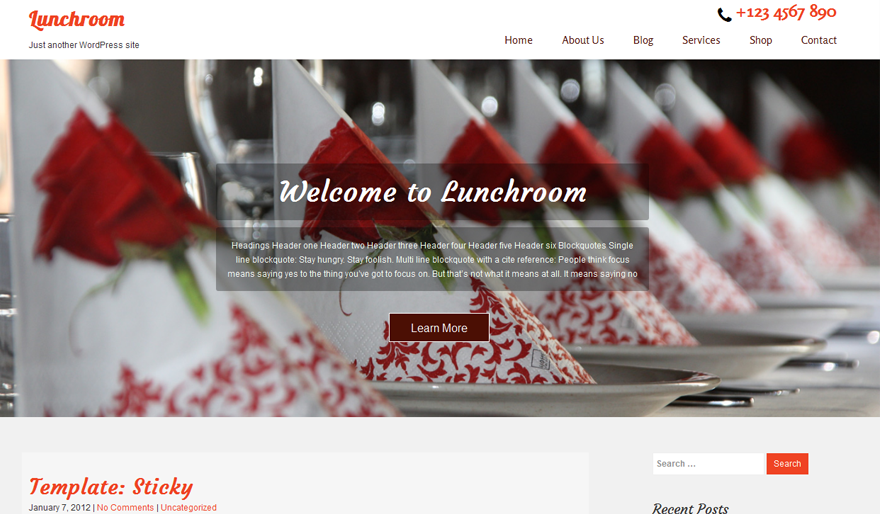 lunchroom-free-wordpress-theme