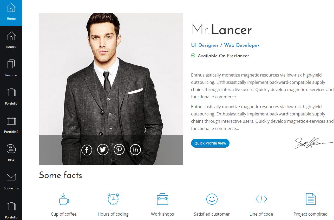 mrlancer-premium-html-template