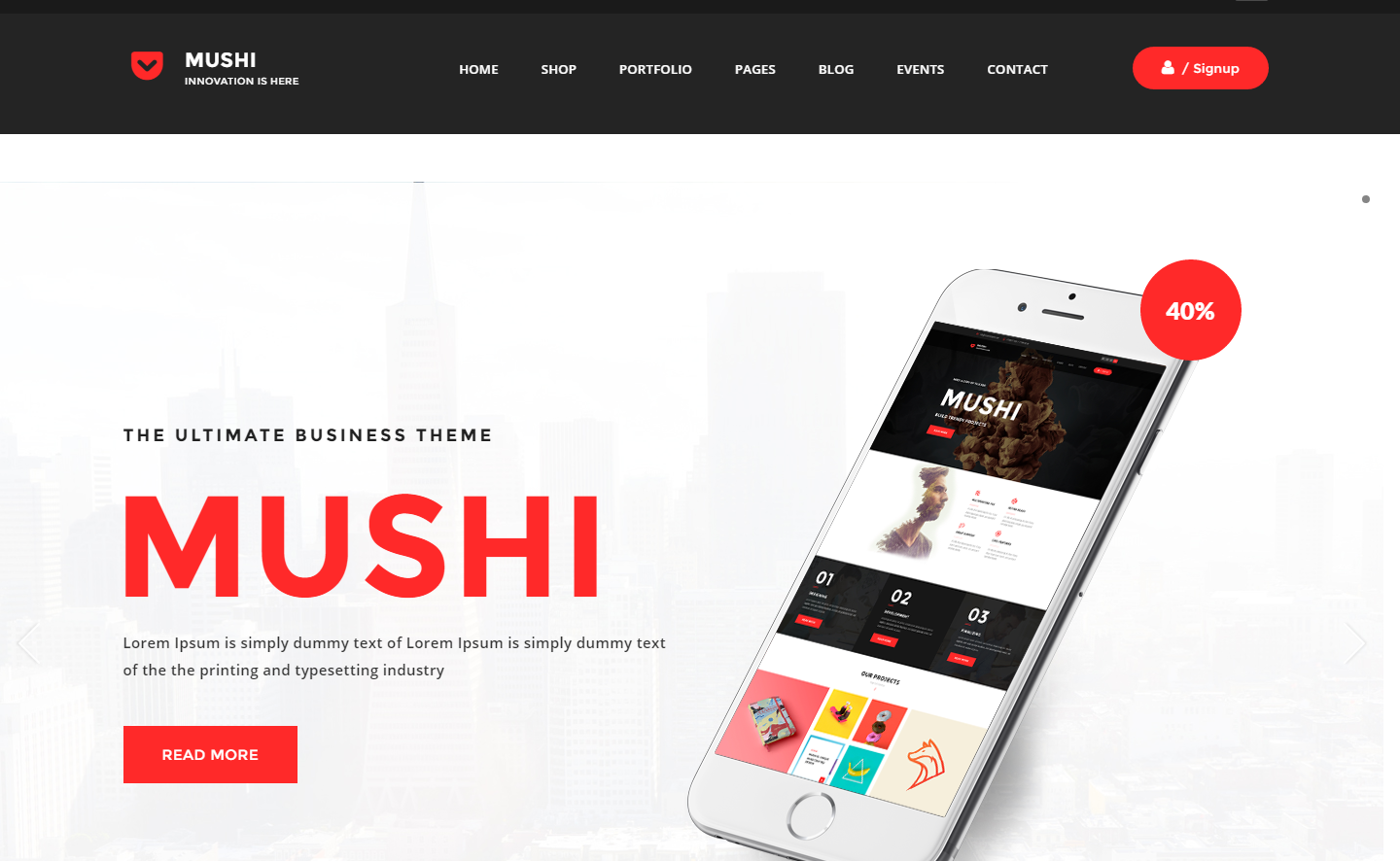 mushi-premium-wordpress-theme