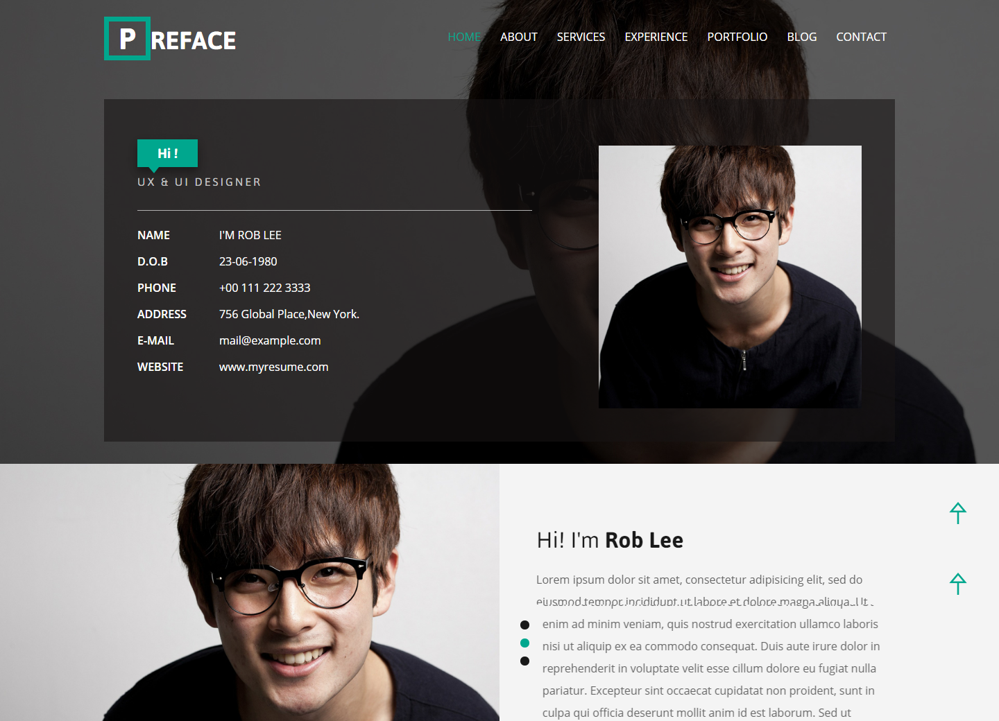 preface-free-html-template