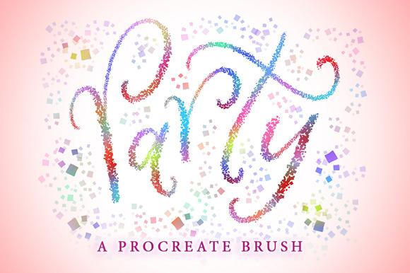 premium-party-procreate-brush
