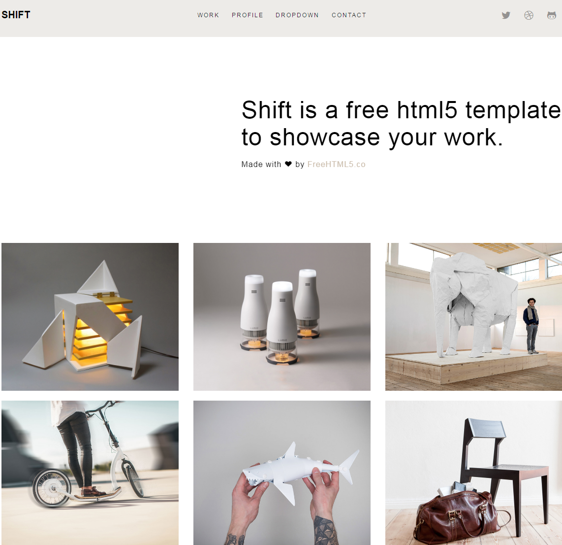 shift-premium-html-template