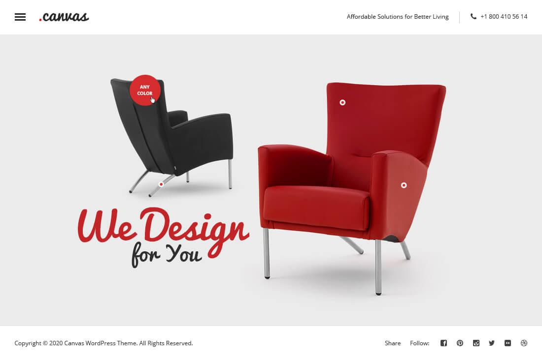Canvas Interior & Furniture Portfolio Template