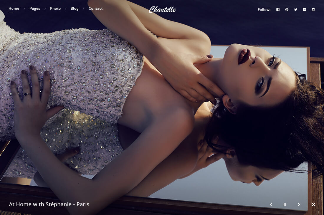 Chantelle - Photography Website Template