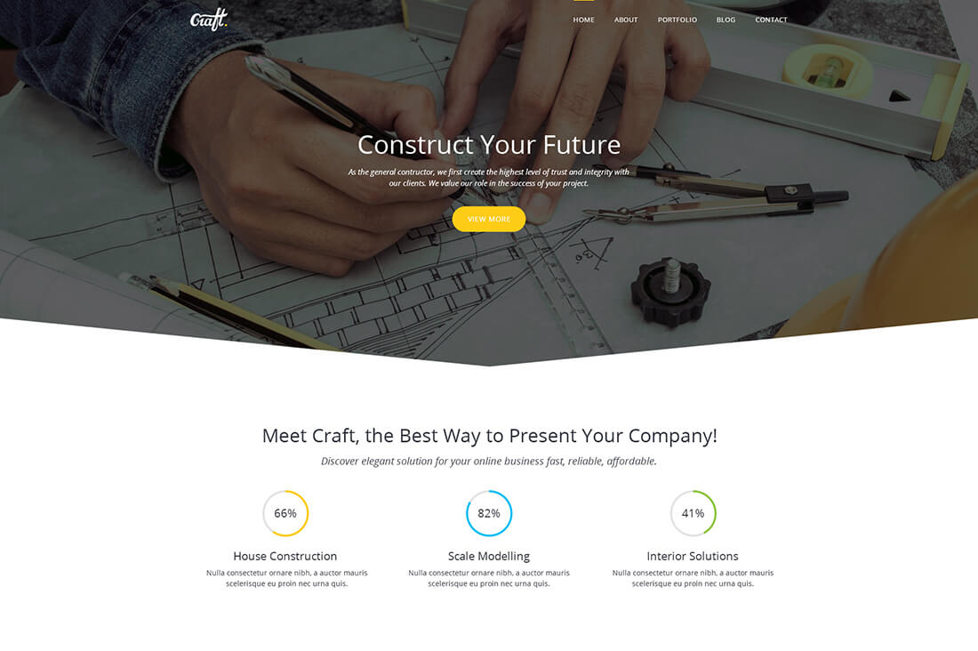 Craft - Construction HTML Template