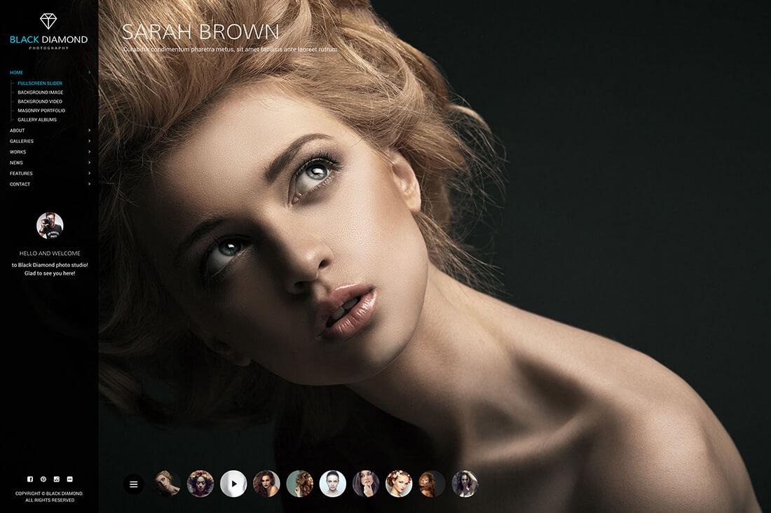 DIAMOND – Photography Website Template