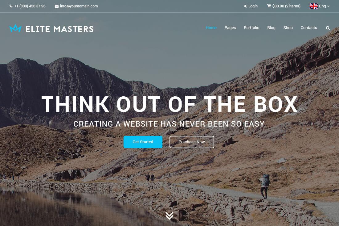 EliteMasters - Multi-Purpose Website Template