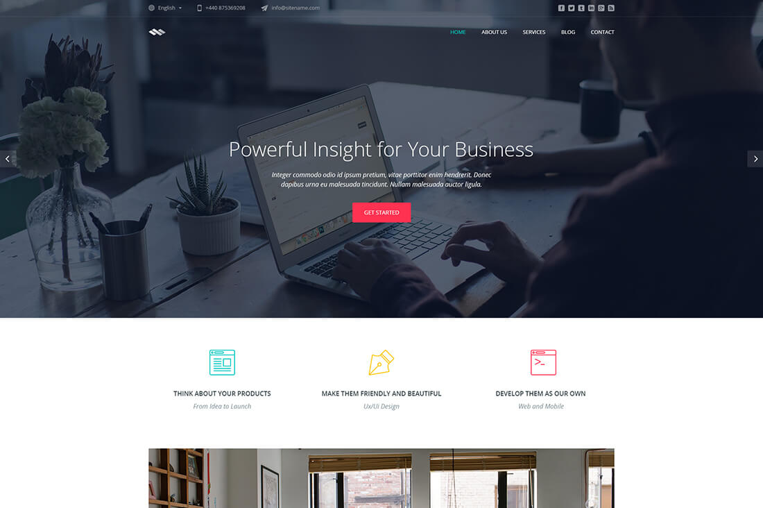 Infinum - Business One Page HTML Template