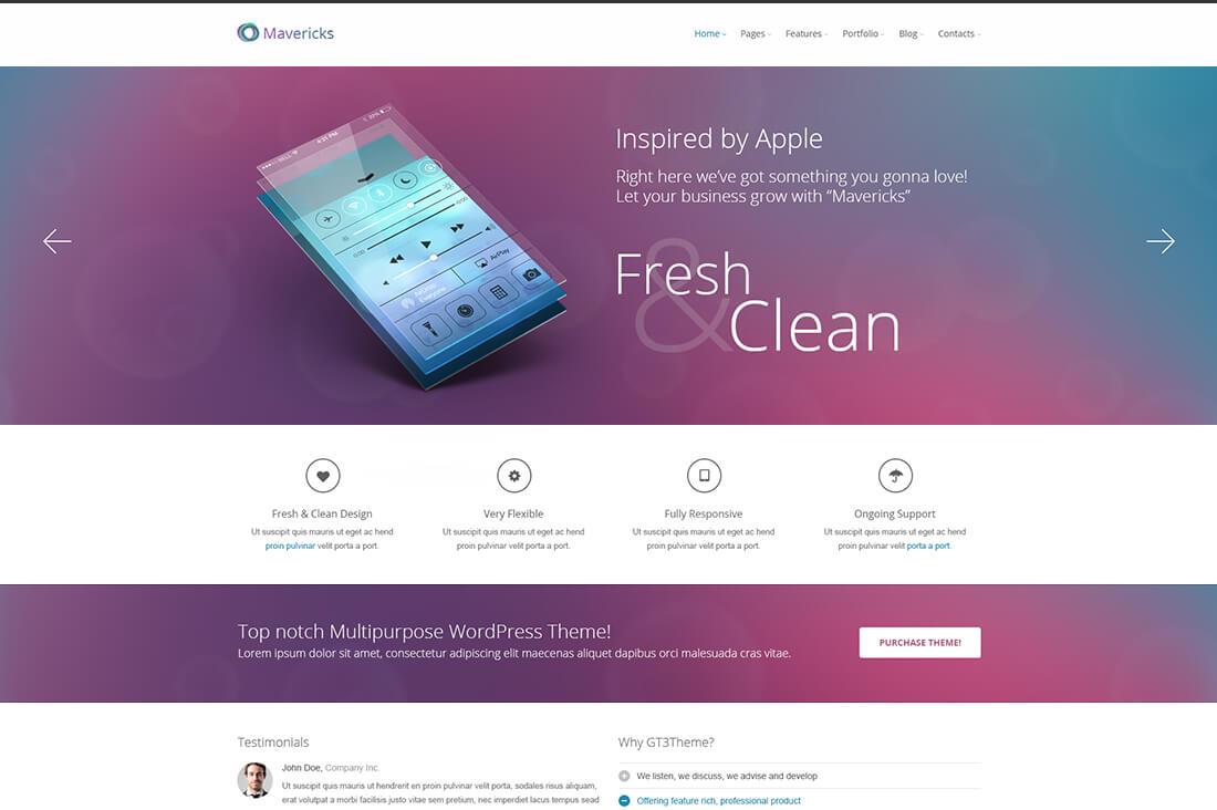 Mavericks - Business and Portfolio Web Template