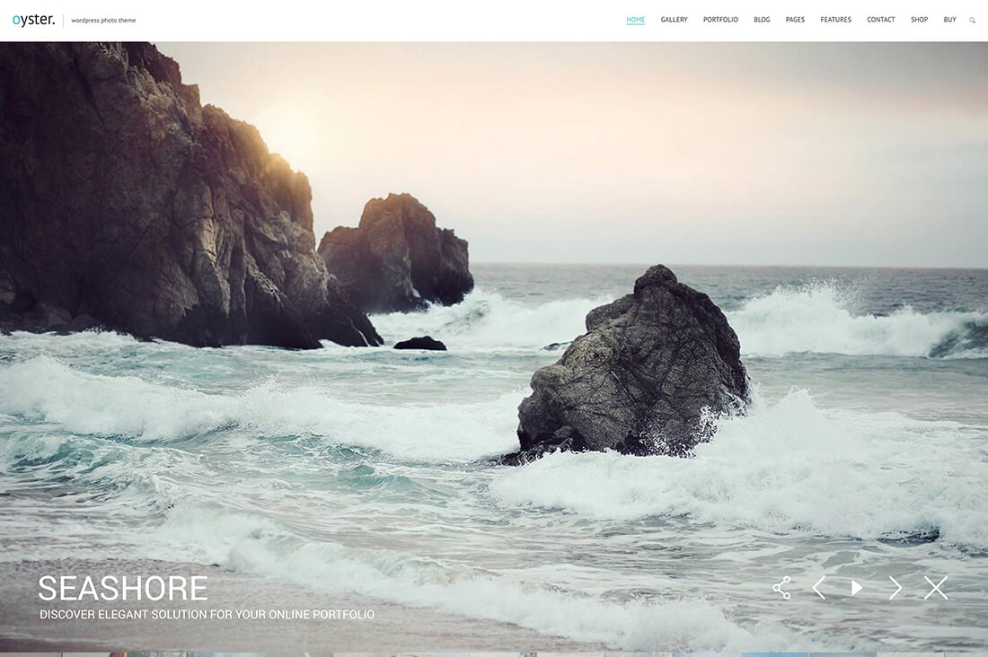 Oyster – Creative Photography HTML Template