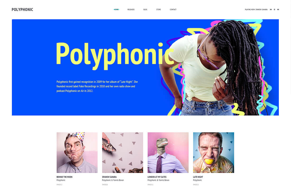Polyphonic - Music HTML Template