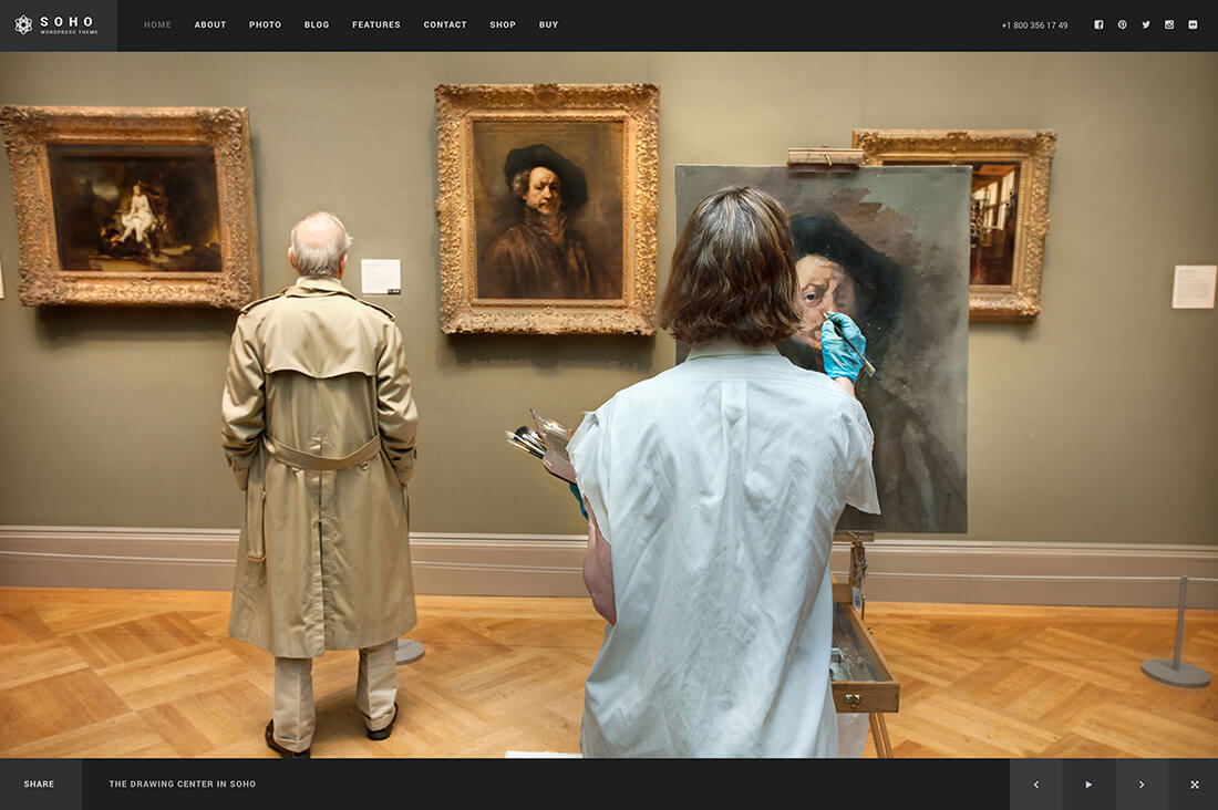 Soho – Fullscreen Photo & Video Web Template