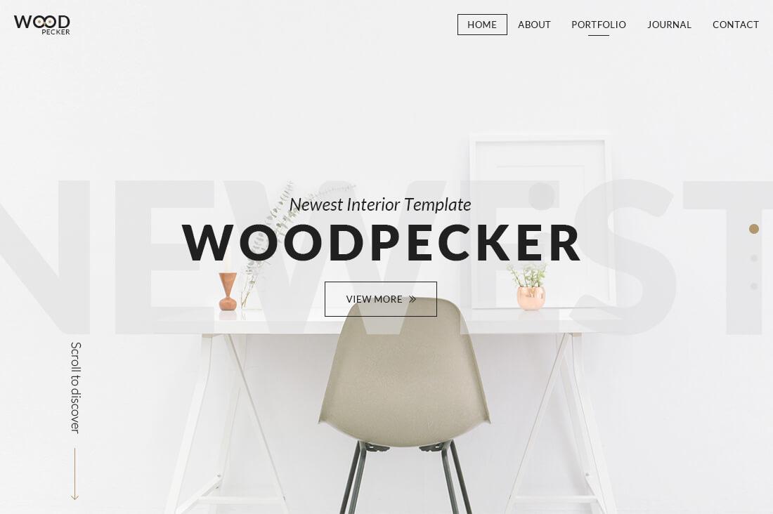 WoodPecker - Interior HTML5 Template