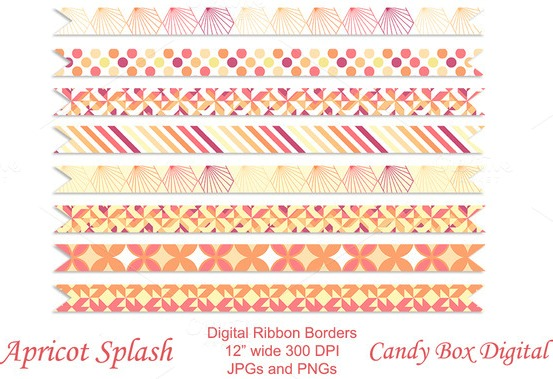 apricot-splash-premium-geometric-borders