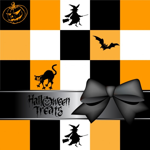 background-with-squares-for-halloween-free-vector