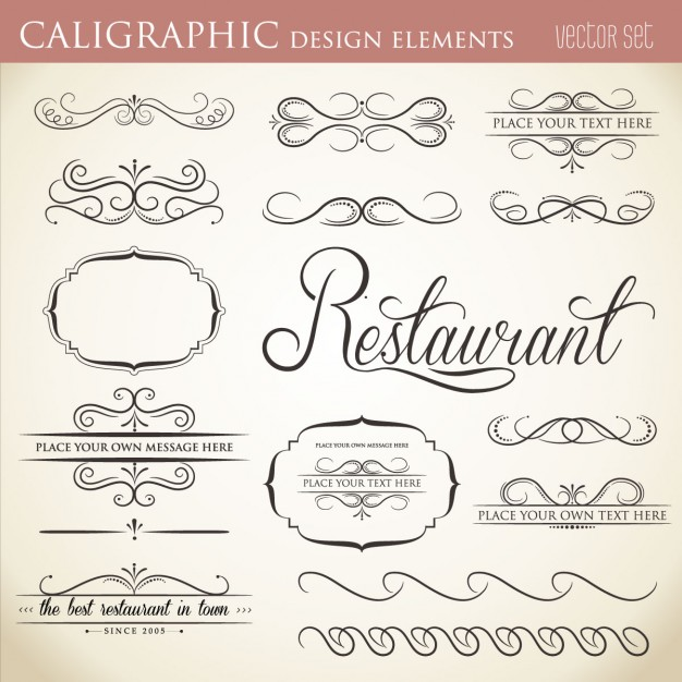 calligraphic-design-elements-free-collection