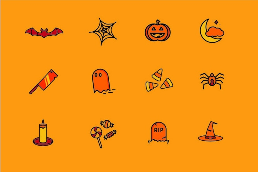 celebrate-this-halloween-season-icons-set