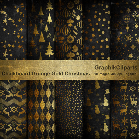 chalk-grunge-gold-christmas-papers-premium-patterns