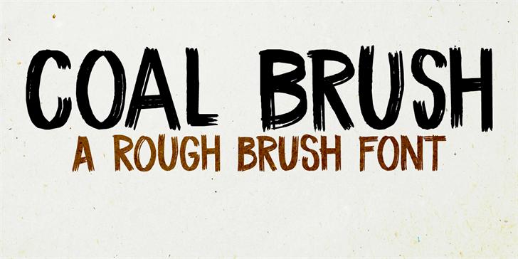 coal-brush-free-font