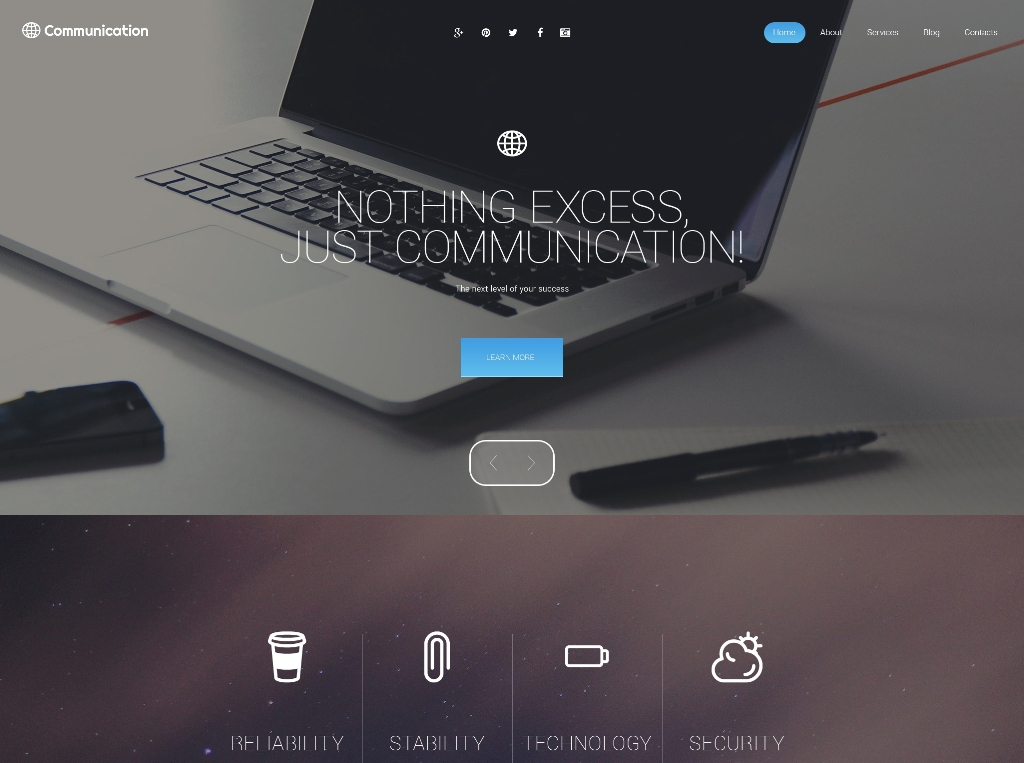 communication-premium-wordpress-theme