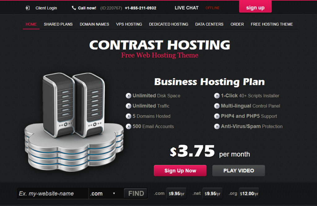 contrast-hosting-free-wordpress-theme