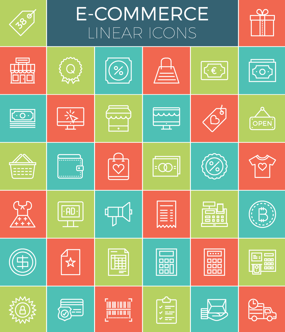 e-commerce-linear-icon-set-38-icons