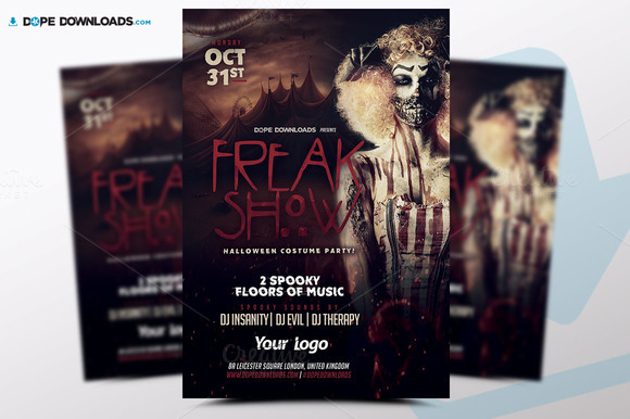 freak-show-halloween-premium-flyer-template