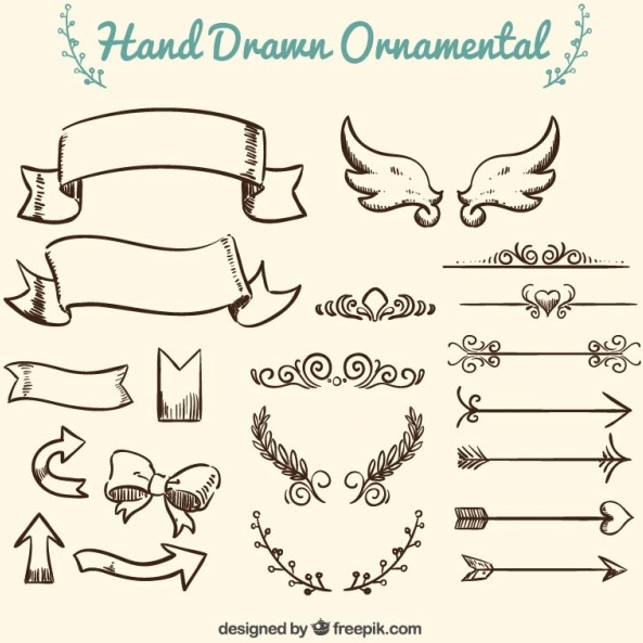 free-collection-of-hand-drawn-ornament