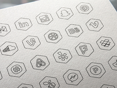 free-hexagon-icon -set