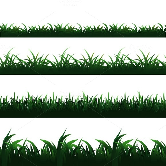 green-seamless-premium-grass-borders