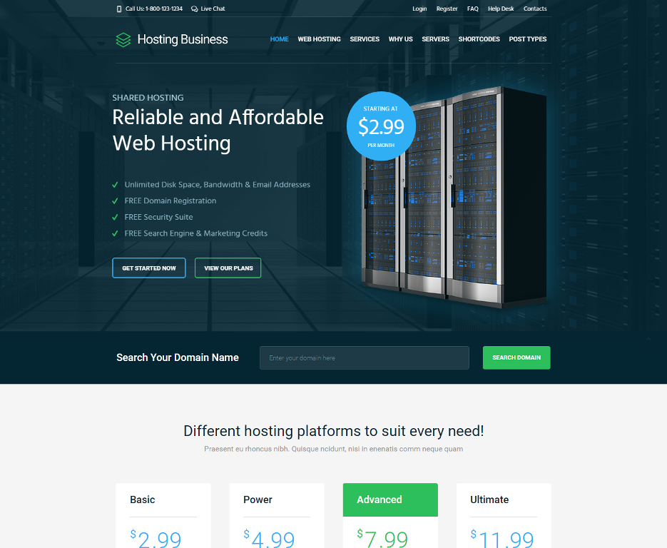 hosting-business-premium-wordpress-theme