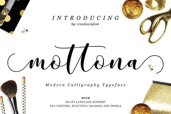 mottona-premium-script-font