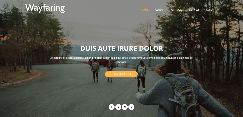wayfaring-free-html-template