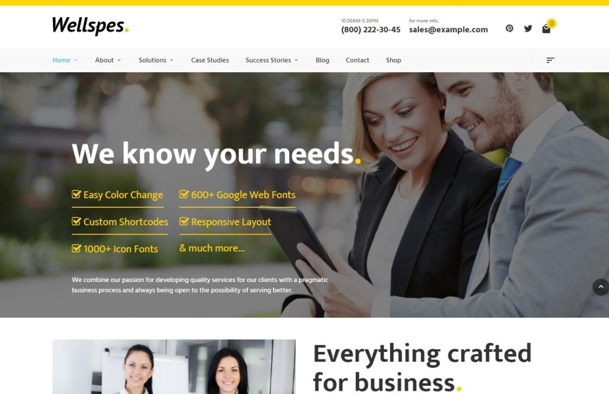 wellspes-premium-wordpress-theme