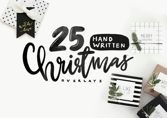 25-handwritten-christmas-overlays-premium-vectors-set