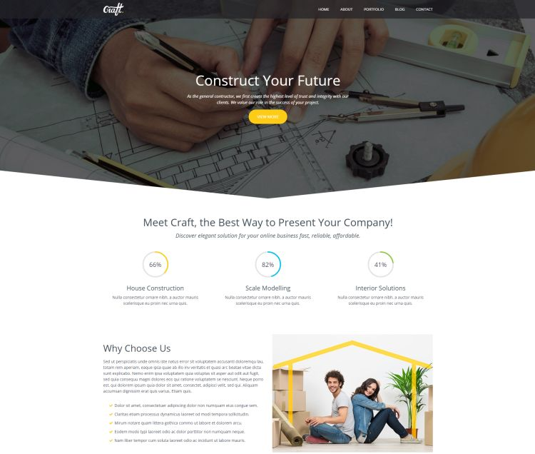 Construction HTML Template – Craft