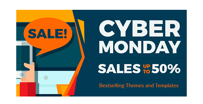 Cyber Monday The Bestselling Themes and Templates with 50% Discount