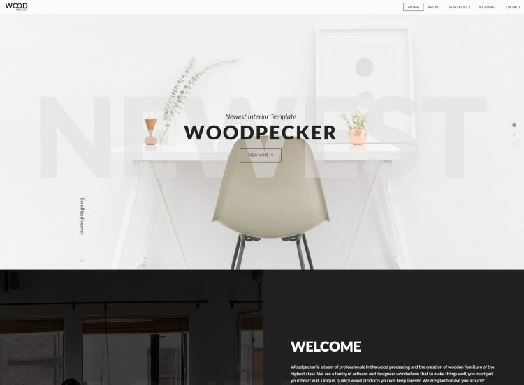 Interior HTML5 Template – WoodPecker