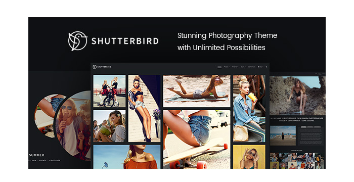 Meet a Brand New Photography WordPress Theme - Shutterbird