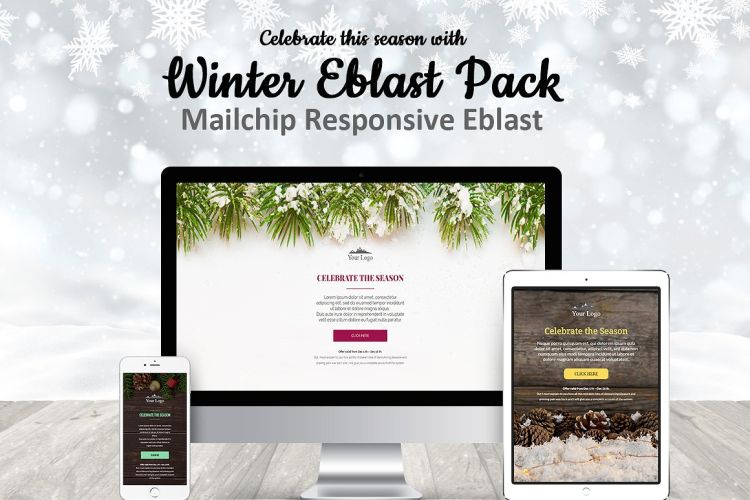 Winter Mailchimp Eblast Pack
