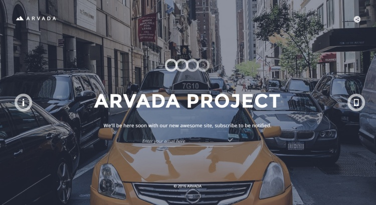 arvada-premium-coming-soon-page-template
