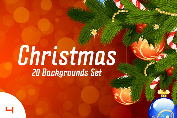christmas-backgrounds-premium-vector-set