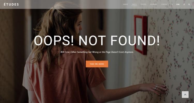etudes-404-page-template