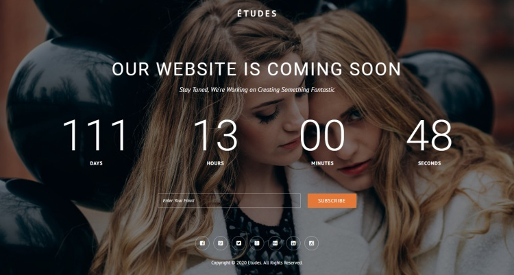 etudes-coming-soon-page-template