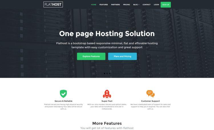 flathost-premium-hosting-template