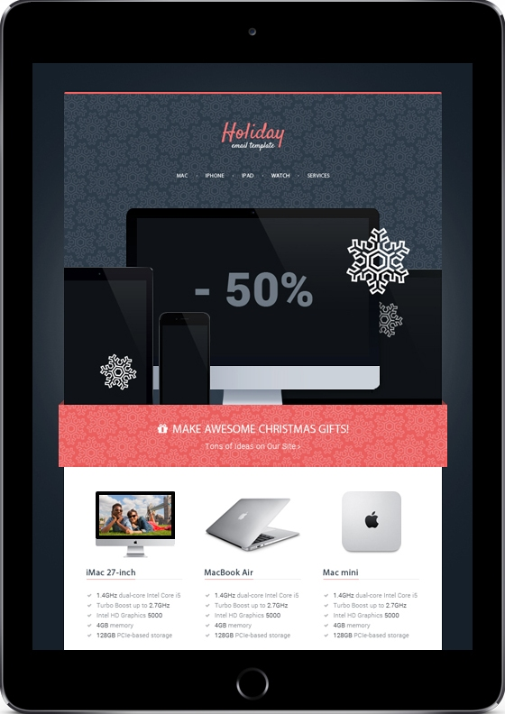 make-awesome-christmas-gifts-premium-email-template