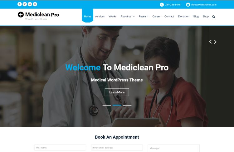 mediclean-free-wordpress-theme