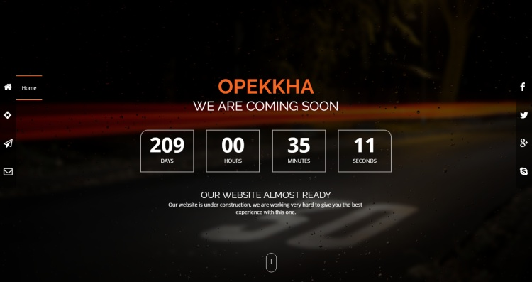 opekkha-premium-coming-soon-page-template