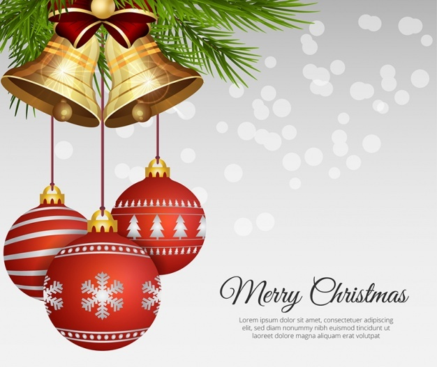 realistic-christmas-balls-with-bells-free-vector