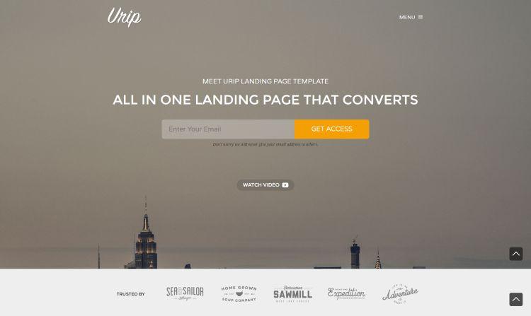 urip-premium-landing-page-template
